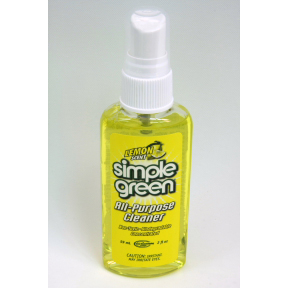 simple green All-purpose Cleaner - Lemon Scent D04-0162302-8200 - 2 fl oz travel size plastic pump spray bottle. Non toxic, biodegradable all-purpose cleaner. Concentrated. Lemon scent.