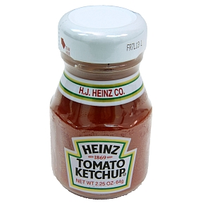 Heinz Ketchup (Bottle) F01-0100100-3100 - 2.25 oz glass bottle tomato ketchup. A convenient travel size for on the go.