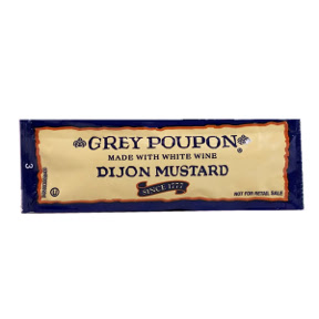 Grey Poupon Dijon Mustard F01-0200605-1100 - 0.25 oz packet dijon mustard, individual size. Made with white wine.