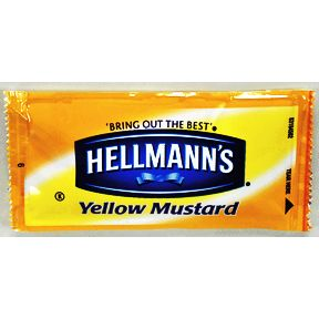 Hellmann's® Yellow Mustard F01-0200900-1100-individual serving size packet.
