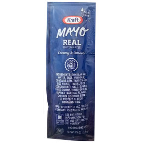 Kraft Mayonnaise F01-0400300-1100 - 7/16 oz mayonnaise packet, individual size.