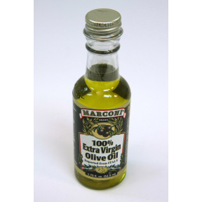 Marconi 100% Extra Virgin Olive Oil (bottle) F01-0851201-8200 - 1.75 fl oz extra virgin olive oil in plastic bottle. A convenient travel size for on the go. Contains high quality Extra Virgin Olive Oils from Italy, Greece & Spain.