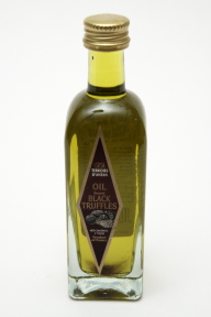 Terroirs D'antan Oil flavored (with) Black Truffles F01-0865801-8200 - 1.7 oz olive oil flavored with black truffles in glass bottle, individual size. Product of France.