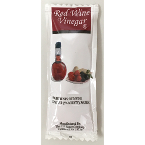 CF Sauer Red Wine Vinegar Packet F01-0878602-1100 - 9 g individual packet