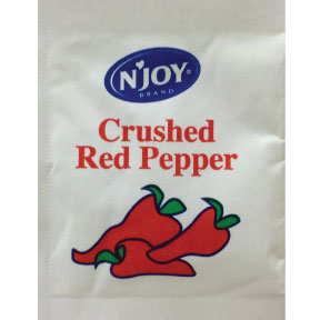 N Joy Crushed Red Pepper F01-0906301-1100 - 1 gram crushed red pepper in individual size packet.