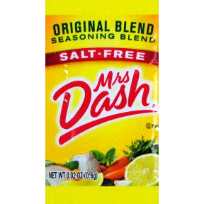 Mrs. Dash Seasoning Blend - Original F01-0917001-1000 - 0.02 oz salt free seasoning in individual size packet. All natural.