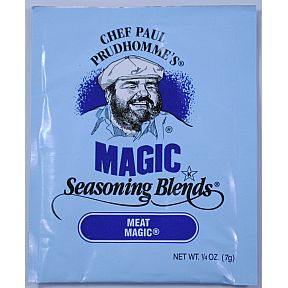 Chef Paul Prudhommes Magic Seasoning Blends - Meat Magic F01-0941205-1100 - .25 oz packet.. No MSG, No Additives or preservatives.