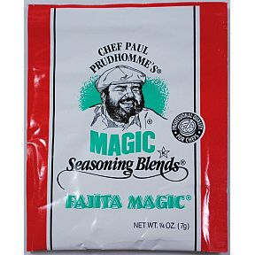 Chef Paul Prudhommes Magic Seasoning Blends - Fajita Magic F01-0941210-1100 - .25 oz packet. No MSG, No Additives or preservatives.