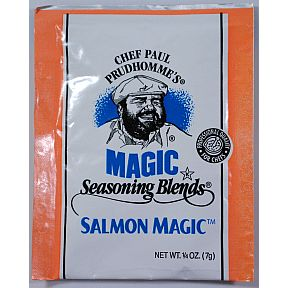 Chef Paul Prudhommes Magic Seasoning Blends - Salmon Magic F01-0941212-1100 - .25 oz packet. No MSG or preservatives.