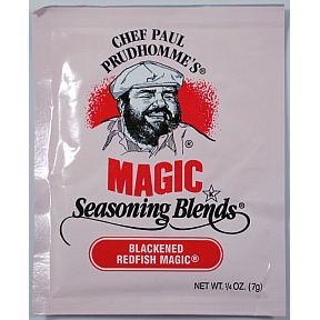 Chef Paul Prudhommes Magic Seasoning Blends - Blackened Redfish Magic F01-0941213-1100 - .25 oz packet. No MSG, No Additives or preservatives.