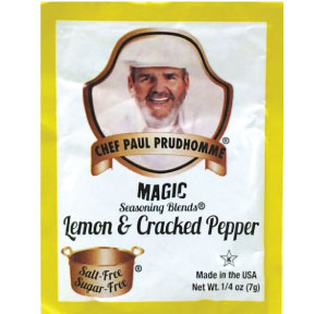 Chef Paul Prudhommes Magic Seasoning Blends - Lemon & Cracked Pepper F01-0941217-1100 - .25 oz packet.