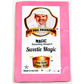 Chef Paul Prudhommes® Magic Seasoning Blends® Sweetie Magic F01-0941250-1000-.02 oz. single use packet. Salt-Free. Sugar-Free.