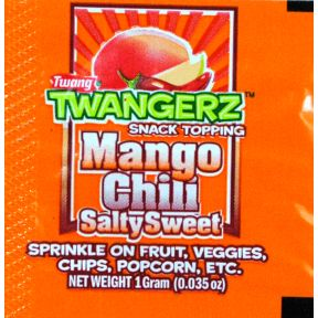 Twangerz Snack Topping Packet - Mango Chili Salty Sweet F01-0983907-0000 - 1 gram packet.