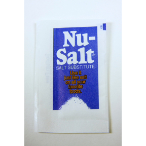 Nu-Salt Salt Substitute F01-1031201-1100 - 0.035 oz salt substitute in individual size packet.