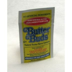 Butter Buds Flavor Granules F01-1133601-1100 - 0.07 oz natural butter flavor granules in individual size packet. No artificial ingredients.