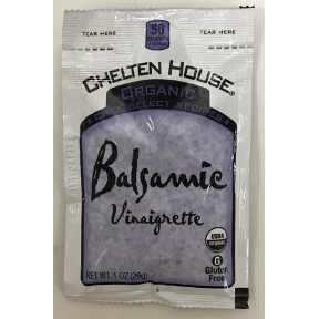 Chelten House® Organic Balsamic Vinaigrette Dressing 1 oz, F02-0048708-1200