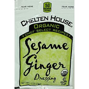 Chelten House® Organic Sesame Ginger Dressing 1 oz F02-0048710-1200-1 oz healthy portion size packet of Organic Dressing.
