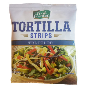 Fresh Gourmet Tortilla Strips Tri Color Travel Size