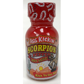 Ass Kickin® Scorpion Pepper Hot Sauce, F03-0340107-3100