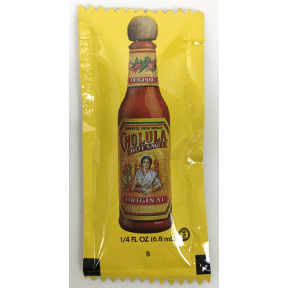 Cholula Hot Sauce F03-3363301-1100 - 0.25 oz. hot sauce in individual size packet.