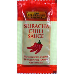 Lee Kum Kee Sriracha Chili Sauce F03-3441801-1100 - Sriracha chili sauce in individual size packet. A convenient travel size for on the go.