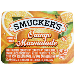 Smuckers Orange Marmalade F04-0004936-0100 - 0.5 oz cups.