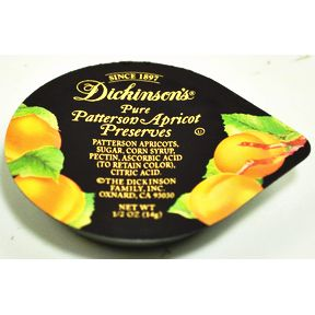 Dickinson's® Pure Patterson Apricot Preserves Cup F04-0038504-2100-0.5 oz. cup.
