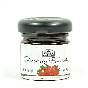 Crosse & Blackwell® Strawberry Balsamic Fruit Spread. F04-0038602-3100-1 oz. glass jar.