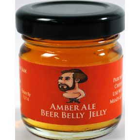 Colorado Mountain Jam Amber Ale Beer Jelly F04-0073007-3200 - 1.5 oz Amber Ale Beer Belly Jelly in glass jar. A convenient travel size for on the go.