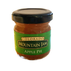 Colorado Mountain Jam Organic Apple Pie F04-0073016-3100 - 1 oz Organic Apple Pie jam in glass jar. A convenient travel size for on the go.