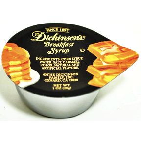 Dickinson's® Breakfast Syrup Cup F05-0038501-2100-1 oz. cup.
