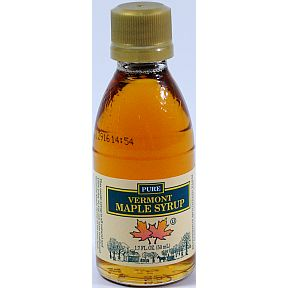 Butternut Mountain Farm Pure Vermont Maple Syrup F05-0067901-3100 - 1.7 fl oz Grade A medium amber maple syrup in glass bottle. A convenient travel size for on the go.