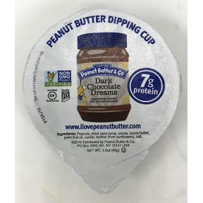Peanut Butter & Co® Dark Chocolate Dreams Dipping Cup, F06-0139402-2300, 1.5 oz peanut butter dark chocolate dipping cup.