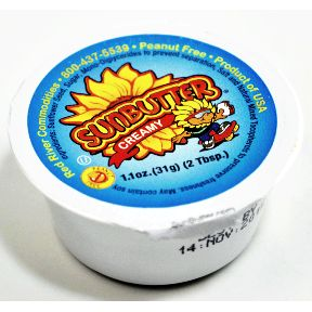 Sunbutter Creamy Sunflower Seed Spread cup F06-0164501-0100-1.1 oz. cup of creamy, peanut free Sunflower Seed Spread.