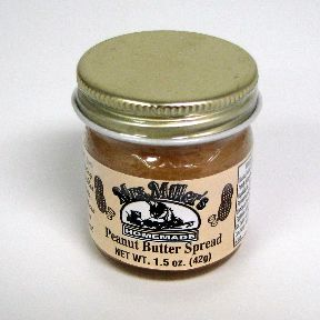 Mrs. Miller's Homemade Peanut Butter Spread F06-0170301-3200 - 1.5 oz home made peanut butter spread in glass jar. A convenient travel size for on the go.