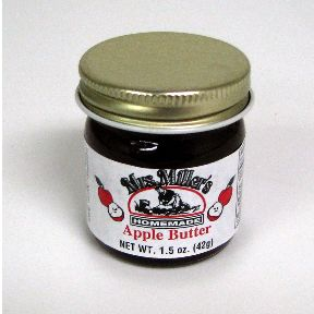 Mrs. Miller's Homemade Apple Butter F06-0270301-3200 - 1.5 oz home made apple butter in glass jar. A convenient travel size for on the go.