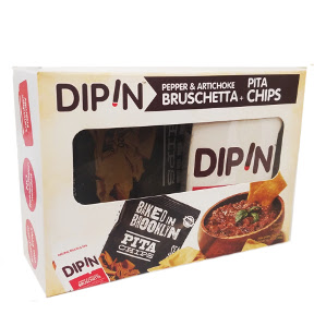 DipIn - Roasted Red Pepper & Artichoke Bruschetta w/ Baked in Brooklyn Pita Chips F06-0445203-2001