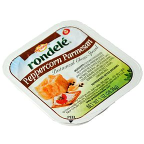 rondele Cheese Spread - Peppercorn Parmesan F06-0942802-2300 - 1 oz ...