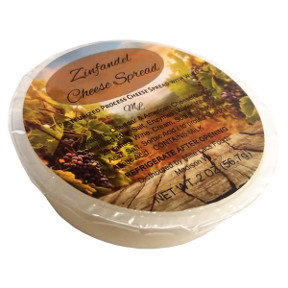 Cheese Spread with Wine - White Zinfandel Havarti F06-1067501-2400 - 2 oz white zinfandel havarti cheese spread in individual wide-mouth plastic cup. A convenient travel size for on the go.