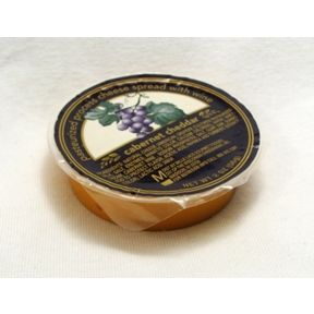 Cheese Spread with Wine - Cabernet Cheddar F06-1067503-2400 - 2 oz travel size Cabernet cheddar cheese spread in individual size wide-mouth plastic cup. A convenient travel size for on the go.