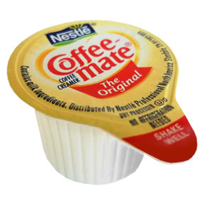 Nestle Coffeemate Original Coffee Creamer F07-0206000-0100 - 3/8 fl oz coffee creamer in individual size cup. A convenient travel size for on the go. No refrigeration needed. Cholesterol free and lactose free.