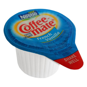 Nestle Coffeemate French Vanilla Coffee Liquid Creamer F07-0206001-0100 - 3/8 fl oz coffee creamer in individual size cup. A convenient travel size for on the go. No refrigeration needed. Natural and artificial flavors.