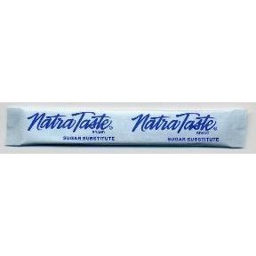 Natra Taste sugar substitute - stick package F08-0259100-1200 - 0.035 oz travel size sugar substitute in individual size stick packet. A convenient travel size for on the go.
