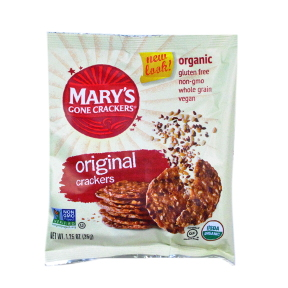 Marys Gone Crackers Organic Crackers - Original - Travel