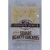 Westminster Bakers Co. Square Hearty Crackers F09-0140601-8100.2 crackers in a plastic sealed packet.