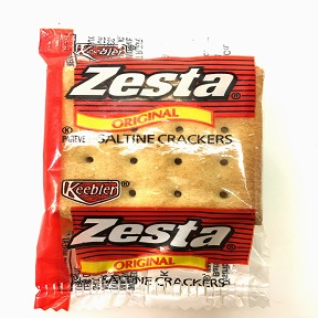 Keebler® Zesta® Original Saltine Crackers F09-0165600-8200 - individually sealed 2 count package.