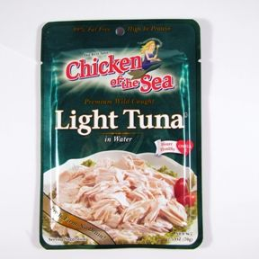 Chicken of the Sea Light Tuna in water - pouch F10-0256001-7100 - 2.5 oz sealed pouch. Premium wild caught.