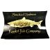 Portlock Wild Smoked Salmon - Black Box F10-0269003-7100 - 2 oz travel size smoked salmon in sealed pouch, in outer cardboard pillow box.