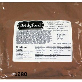 Bridgford Filled French Toast F10-0539121-8200 - 3.5 oz Shelf Stable Filled French Toast