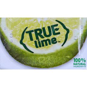 True Lime Flavor Crystal F11-0128602-1100 - 0.8 g packet. Crystallized lime. 100% natural ingredients. For water, tea, and recipes. 0 calories, 0 carbohydrates. No artificial sweeteners.